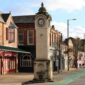 Didsbury Village clock