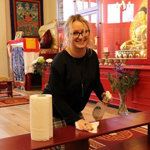 volunteering at Kagyu Ling