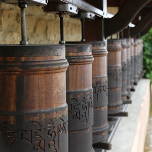 Kagyu Buddhist prayer wheel